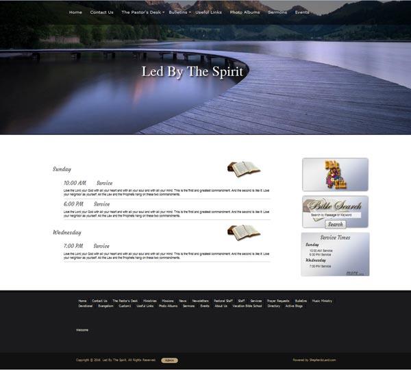 Shepherd's Land | Church Websites