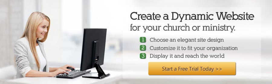 create a dynamic church website